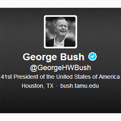 George Bush padre consigue más de 40.000 seguidores en su primer día como 'tuitero'