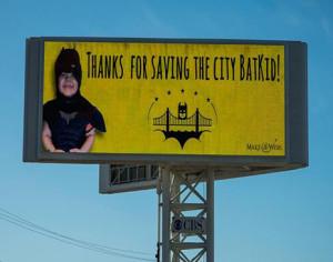 '¡Gracias por salvar la ciudad BatKid!'