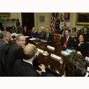 Los titanes digitales se reúnen con Obama para