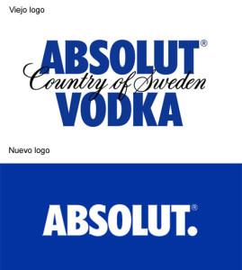 El logo de Absolut pasa por el