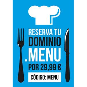 ¡Reserve ya su dominio .menu de la mano de Arsys por tan sólo 29,99€!