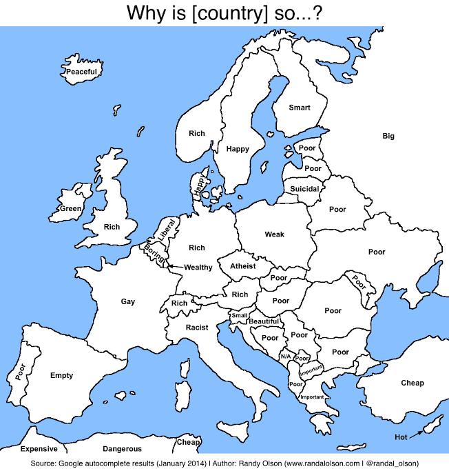 """Así """"autocompleta Google"""" a los países europeos - Marketing Directo"""