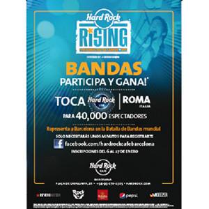 Hard Rock Cafe Barcelona inicia el periodo de inscripción para la nueva edición de la Batalla de Bandas mundial