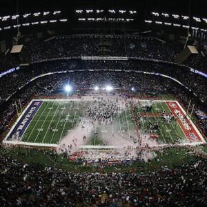 Cuando ve la Super Bowl en la TV, el partido es el