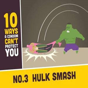 Una campaña de preservativos bromea con las 10 formas en que los condones no pueden protegernos