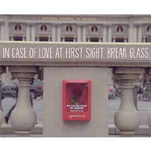 Una floristería llena las calles de París de kits de emergencia en caso de ataques de amor a primera vista