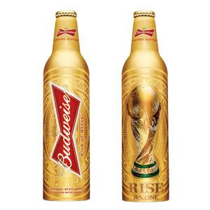 Budweiser lanzará una botella edición limitada con motivo del FIFA World Cup de Brasil