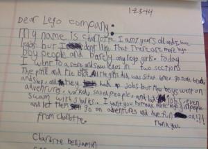 Una niña de 7 años escribe una carta a Lego pidiendo 'igualdad de sexo' en sus figuras