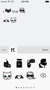 El diseñador Karl Lagerfeld lanza sus propios emoticonos para llenar las conversaciones de moda
