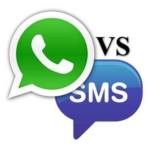 La mensajería instantánea se utiliza más, pero ingresa 50 veces menos que los SMS