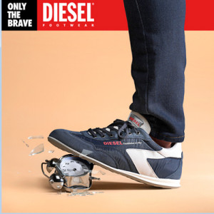 Nueva campaña de Diesel para promocionar sus zapatillas