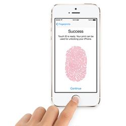 huella dactilar iphone