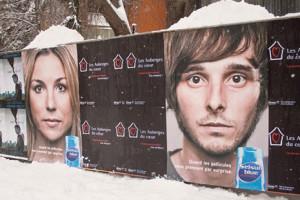 Una original campaña exterior de champús anticaspa aprovecha las nieves canadienses para publicitarse