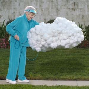 Una abuela convierte a una nube en su mascota en la nueva y