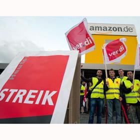500 trabajadores de un centro de distribución de Amazon en Alemania se unen en una sonada huelga
