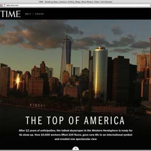 'Time' rediseña su página web con vistas panorámicas del One World Trade Center