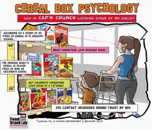 El contacto visual con los más pequeños, el éxito de las marcas de cereales