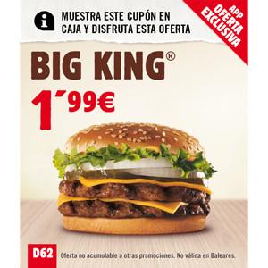 BURGER KING lanza ofertas exclusivas sólo disponibles en su aplicación móvil