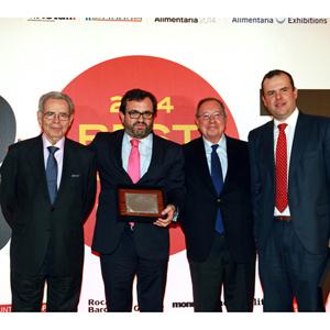 Ignacio González, recogiendo premio  Best Pack