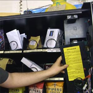 Una máquina expendedora tuitea después de cada compra para que no olvide nade de lo que come