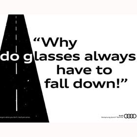 Un ingenioso juego de palabras de Audi alerta a los conductores distraídos de peligros de la carretera