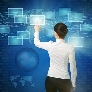 oman pushing virtual button in web interface