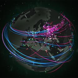 Un mapa interactivo nos muestra las amenazas virtuales que circulan por el mundo en tiempo real