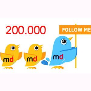 200.000 tuiteros ya confían en MarketingDirecto.com para estar al día de las noticias del sector
