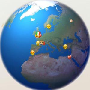 Un mapa pulsa en tiempo real el estado de ánimo de los tuiteros a través de sus emojis