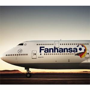 La fiebre futbolera del Mundial ataca a la aerolínea Lufthansa, que cambia su nombre por