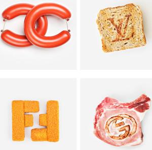 Así son los grandes logotipos de las firmas de lujo, en versión comestible
