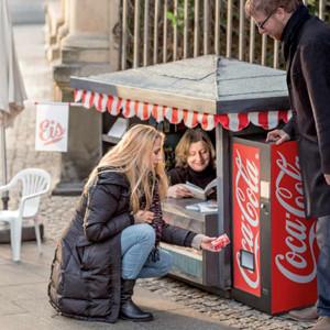 Mini quioscos para vender mini Coca-Colas