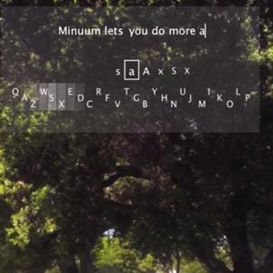 Minuum, el nuevo teclado de Google Glass que le permitirá escribir inclinando la cabeza