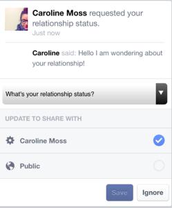 Facebook saca su lado más cotilla añadiendo un botón que permite preguntar el porqué de su vida sentimental
