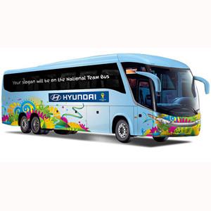 Presentamos los 10 eslóganes más curiosos que decorarán los autobuses de los equipos del Mundial de Fútbol