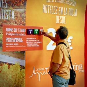 Destinia acerca a Metro de Madrid los aromas riojanos