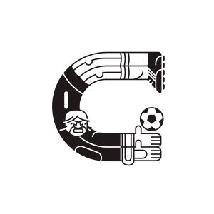 Un diseñador gráfico crea una original tipografía inspirada en el Mundial de Fútbol de Brasil