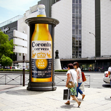 JCDecaux Innovate y Coronita refrescan Madrid
