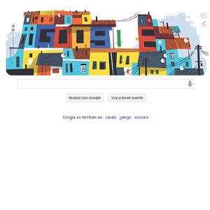 Google dedica su doodle de hoy a las favelas brasileñas con motivo del Mundial de Fútbol