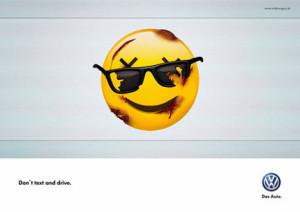 Volkswagen: si no quiere que los emojis de su móvil salgan magullados, olvídese de WhatsApp al volante