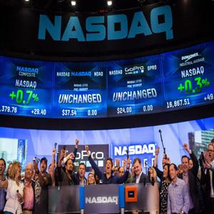 GoPro debuta en el Nasdaq con un crecimiento del 38%