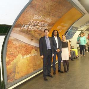 La Rioja Turismo y Destinia promocionarán La Rioja en el Metro de Madrid con publicidad en cuatro dimensiones
