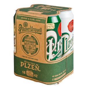 Pilsner Urquell lanza una edición limitada de 4 latas vintage