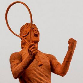 Nike convierte a Rafa Nadal en estatua de arcilla