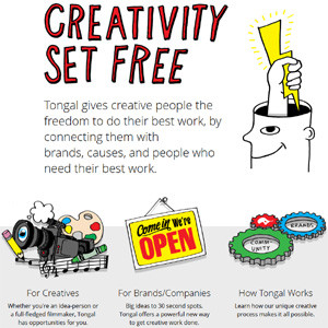 Si quiere hacer sus pinitos como publicitario y cobrar por ello, Tongal es la plataforma que estaba buscando