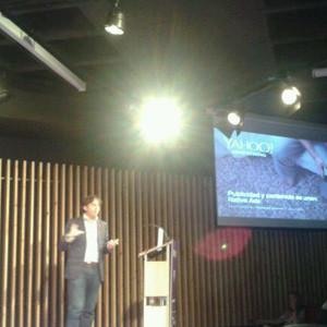 F. Carrión (Yahoo!) en #SeminarioIABaea:
