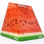 Kleenex fruit wedge packaging illustration for Kimberly-Clark