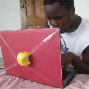 apple-on-computer-taped