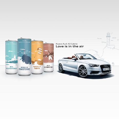 Audi presenta una colección de latas de aire con denominación de origen