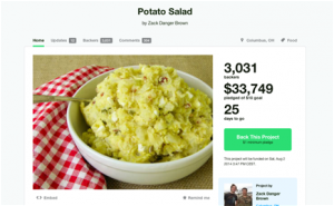 Una ensalada de patatas recauda más de 50.000 euros en Kickstarter